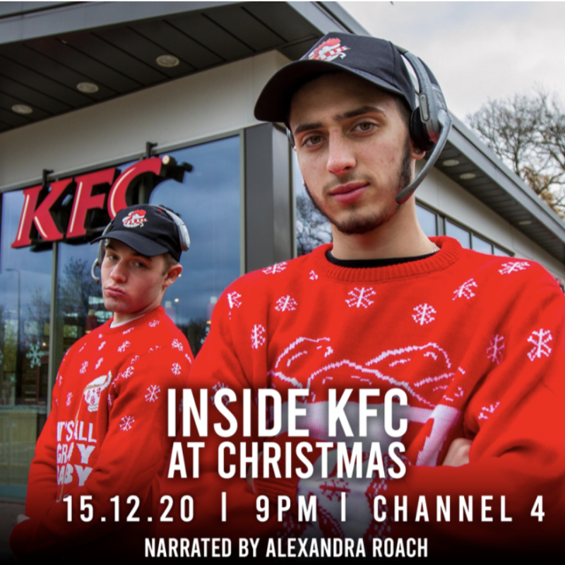 Tune in to Inside KFC at Christmas, narrated by the lovely Alexandra Roach!