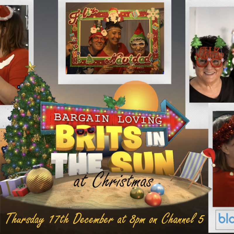 Catch Bargain Loving Brits in the Sun at Christmas, voiced by the brilliant John Thomson!