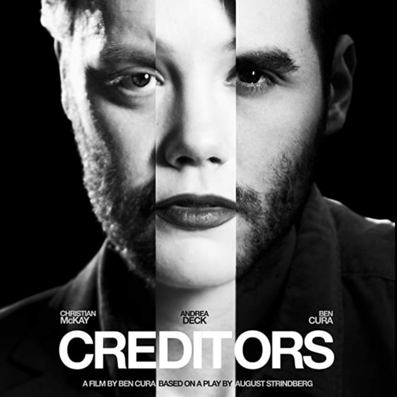 A film adaptation by and starring Ben Cura based on August Strindberg's 1888 play 'Creditors. Also starring Tom Bateman.