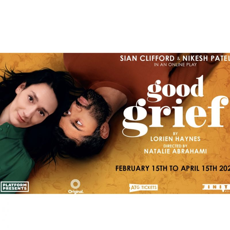 Sian Clifford stars in an online comedy play of Lorien Haynes 'Good Grief'.