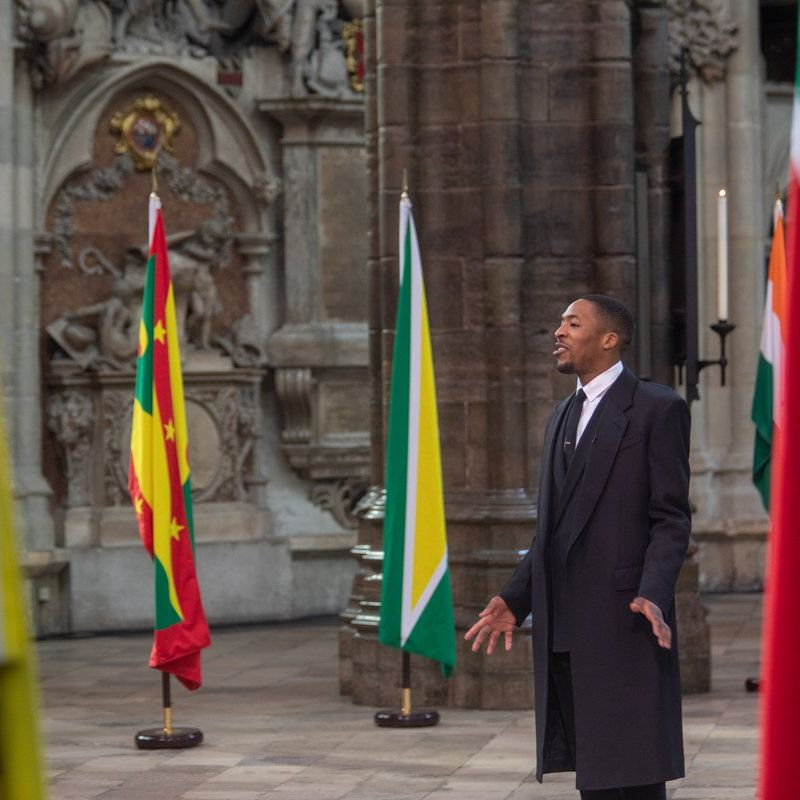 Celebrated poet & spoken word artist James Massiah reads his piece 'Wide Eyes' at Westminster Abbey in celebration of Commonwealth Observance.