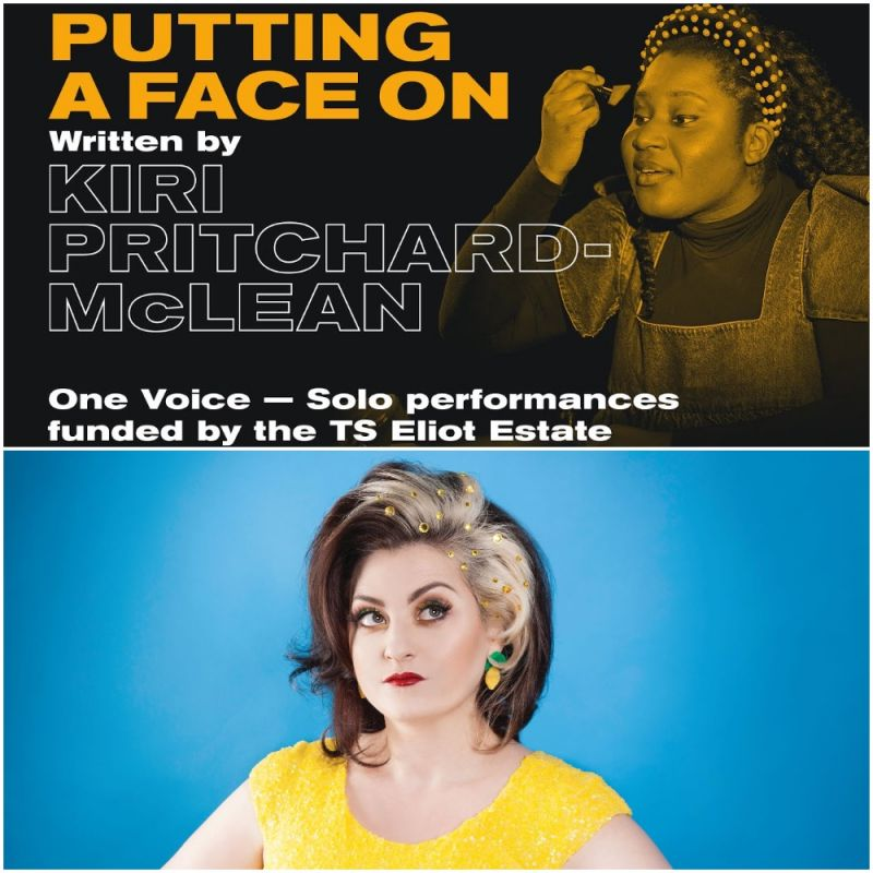 'Putting A Face On' written & directed by Kiri Pritchard-Mclean is now streaming on the Old Vic website.