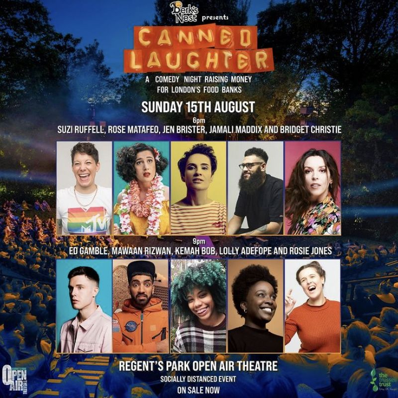 Berk's Nest presents 'Canned Laughter', a comedy fundraiser featuring Ed Gamble, Mawaan Rizwan and Kemah Bob.