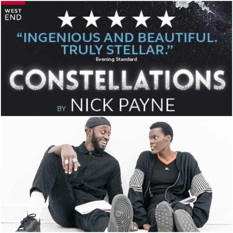 The play 'Constellations' by Nick Payne returns to the West End at the   Vaudeville Theatre and stars Sheila Atim.