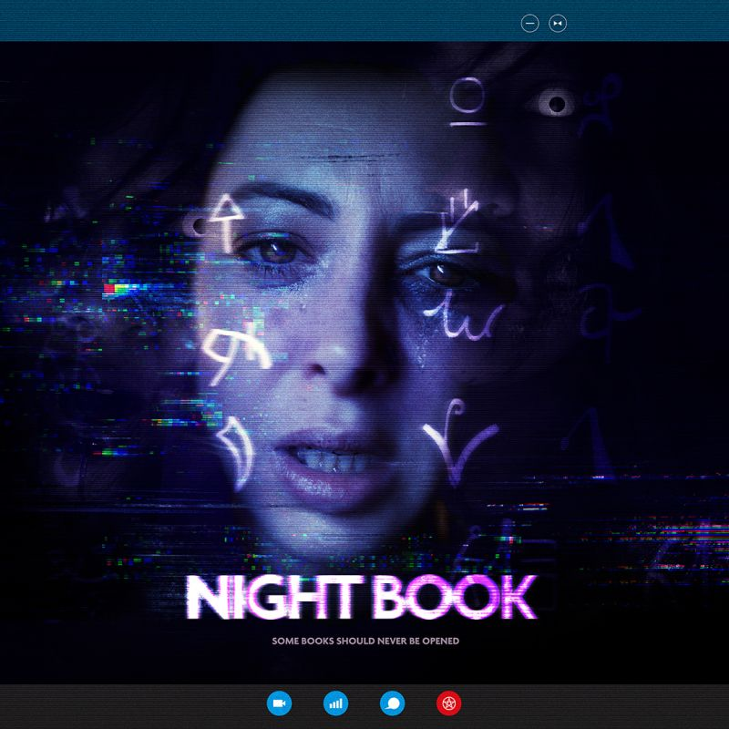 Julie Dray stars in the new interactive occult thriller game 'Night Book'.