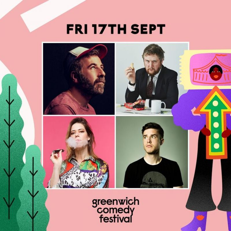 Greenwich Comedy Festival 2021, with acts from Lou Sanders and Ed Gamble on the 17th September.