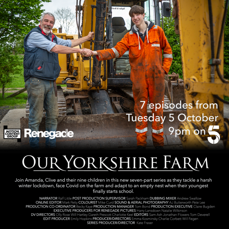 New series of the documentary 'Our Yorkshire Farm' narrated by Ralf Little.
